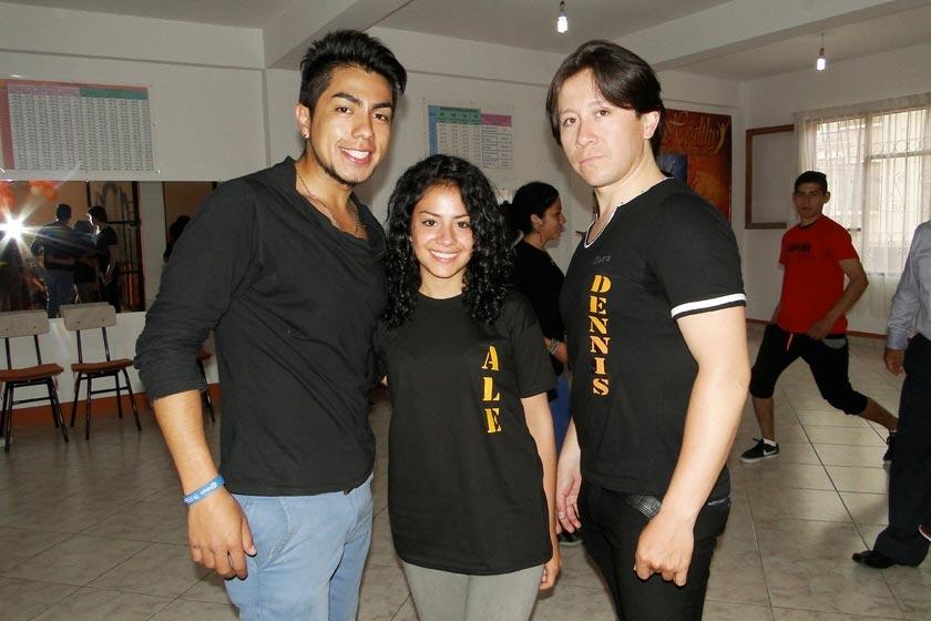 David Pemintel, Alejandra Arce y Dennis Zamorano