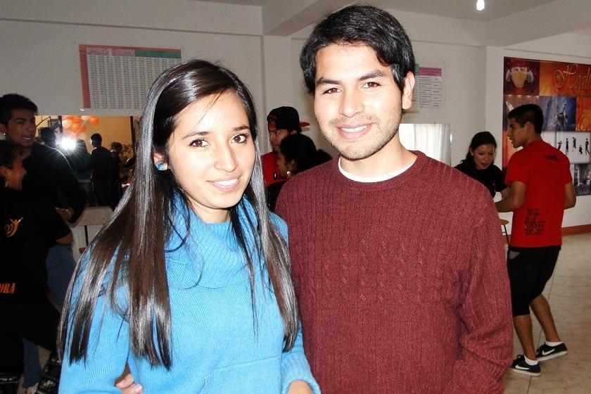 Shery Loayza y Gustavo Arenas
