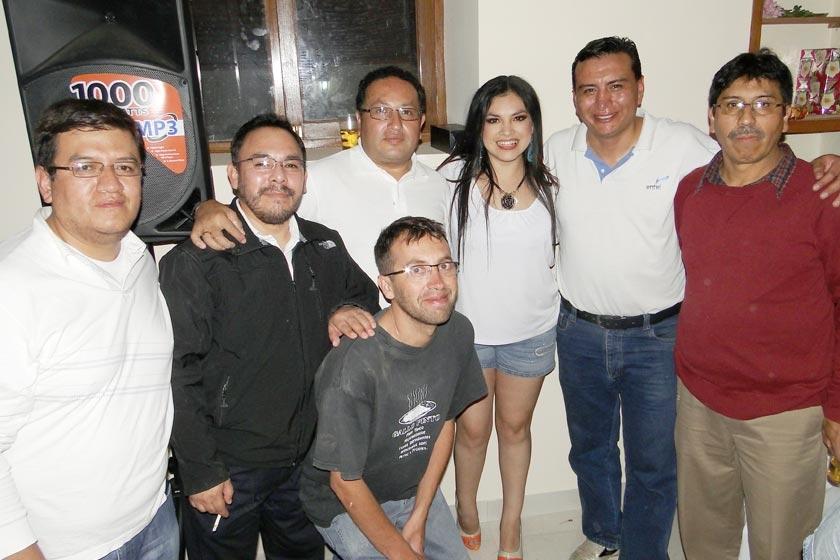 Boris Olguín, Orlando Araujo, Rolando Loaiza Viviana Balcázar, Álvaro Gardeazabal, Gustavo Argandoña y Vicente Asebey