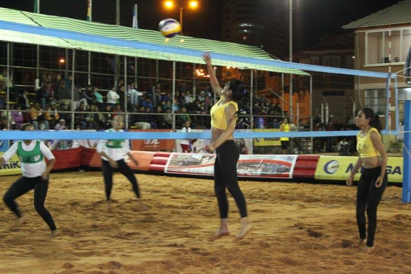 Uno de los partidos jugados en la primera jornada del torneo