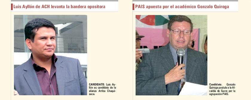 Una mirada a los seis candidatos a la Alcaldía de Sucre