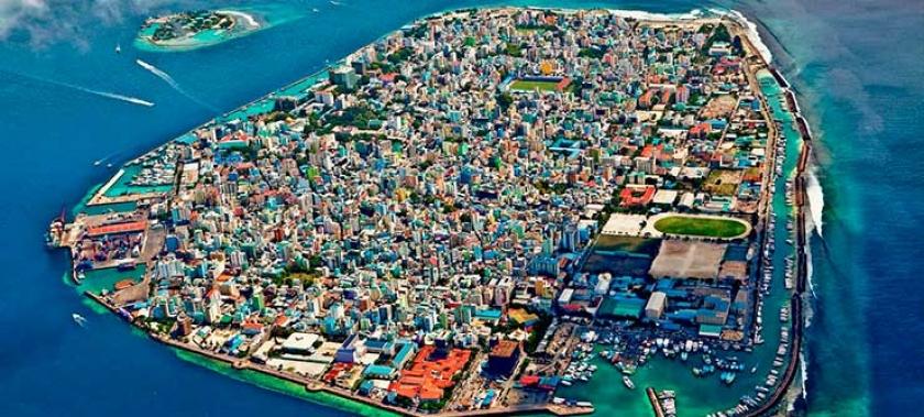 MALE en las Maldivas