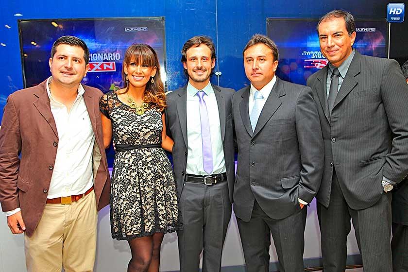 Ariel Valverde, Claudia Landívar, Javier Perou, Carlos Ayala y Marcelo Torrico
