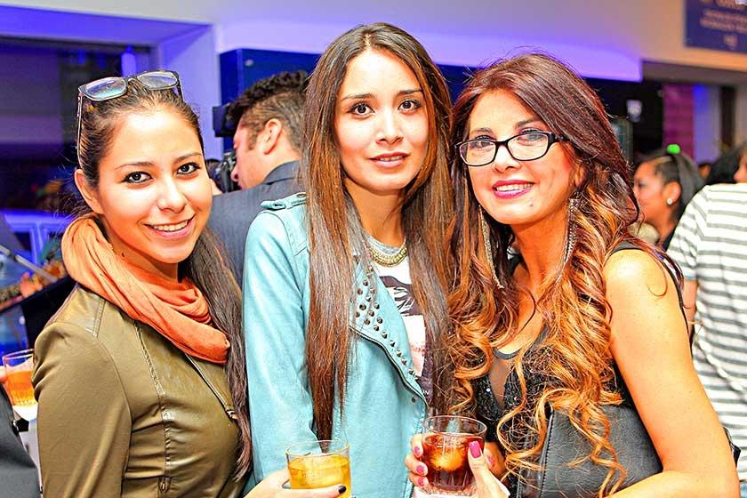 Sofía Sandoval, Elvia Palma y Tatiana Zárate