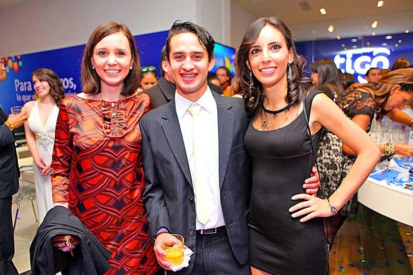 Clara Fernández, Ignacio Carranza y Andrea Ponce