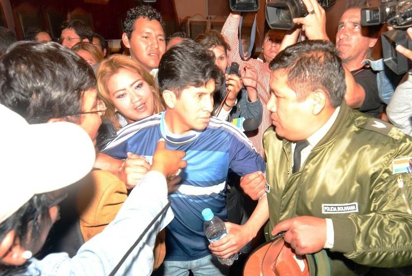 El periodista Carlos Quisbert fue liberado la tarde de este miércoles. Foto: APG