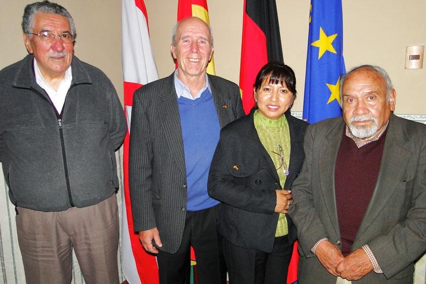 Rafael Abastoflor, Gerd Mielke, Ybeth Barrancos y Nanet Zamora