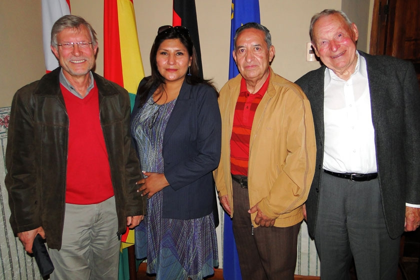 Rodolf Pasch, Maritza Blanco, Genaro Rivera y Heinz Stamm