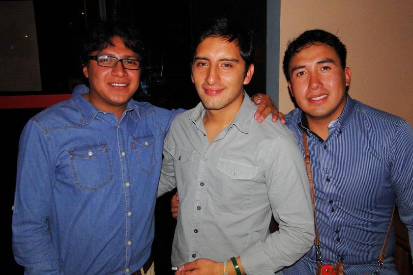José Salamanca, Rodmy Garvizu y Franklin Cepeda