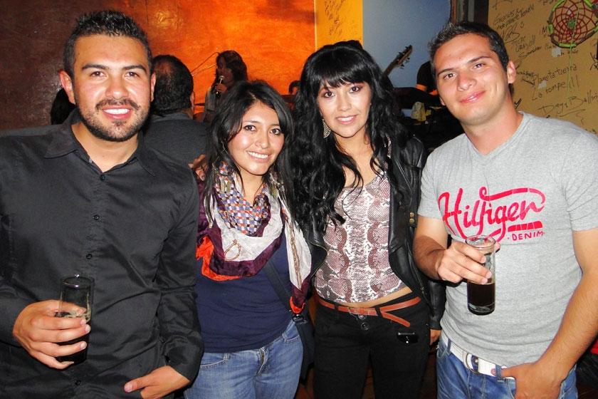 Edgar Campos, Andrea Ticona, Vanessa Algodón y Carlos Caero