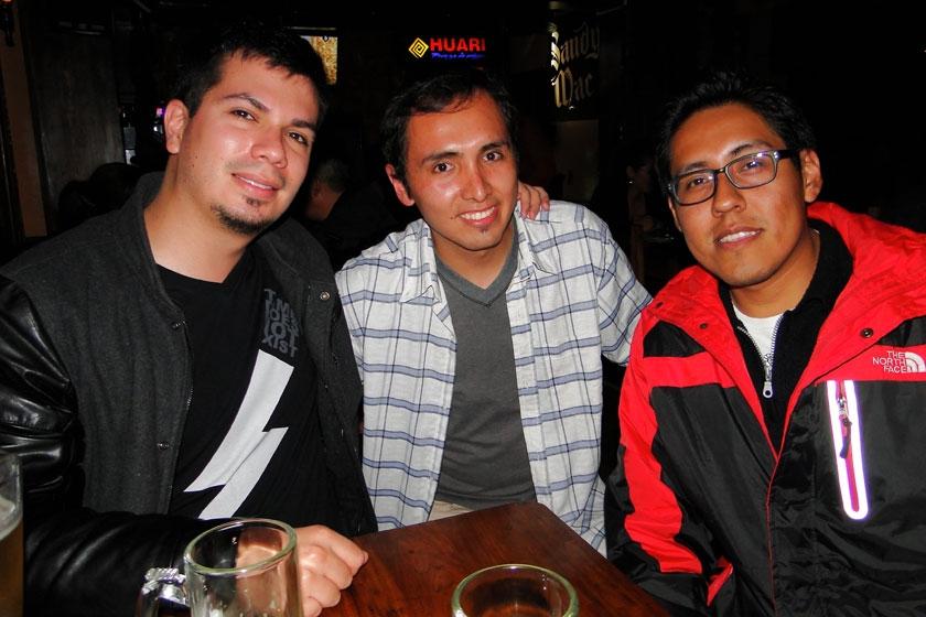 Benjamín Vargas, Marco Decormis y Mauricio Loayza