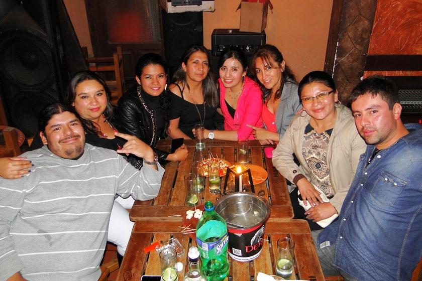 Marco, Rocío, Gisela, Marcela, Sandra, Soraya, Lisbersy y Antonio