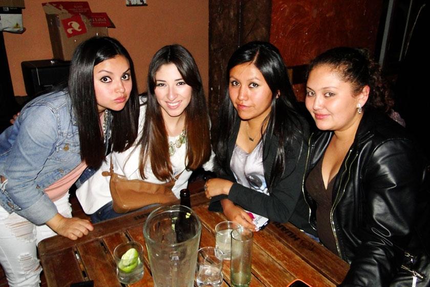 Valeria Bravo, Silvia Velásquez, Maricela Escalante y Verónica Paravicini