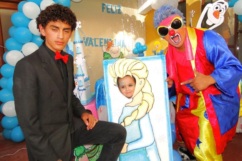 Valentina junto a Yaba Daba Do