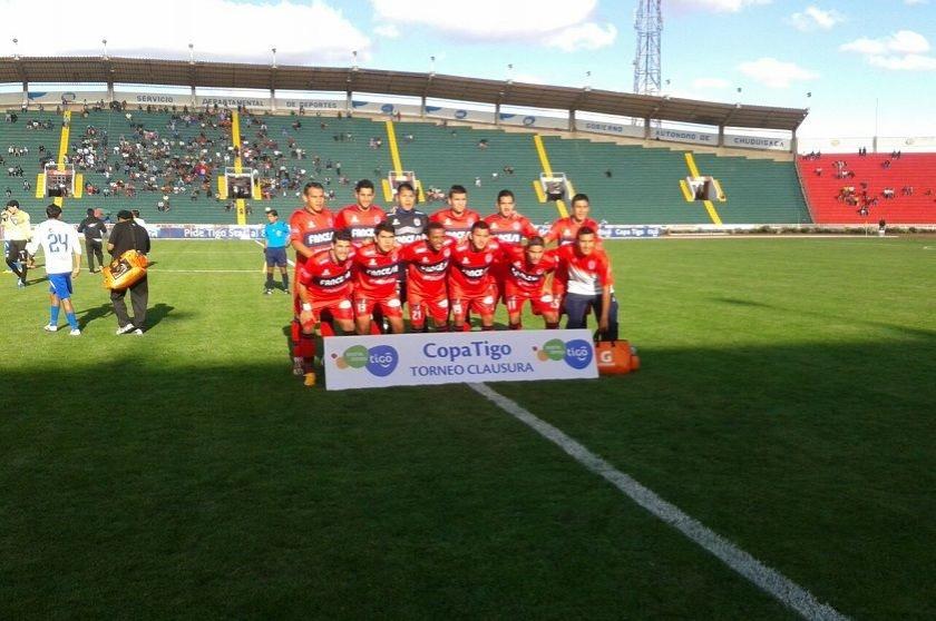 Los 11 jugadores que puso Baldivieso desde el comienzo. Foto: CORREO DEL SUR