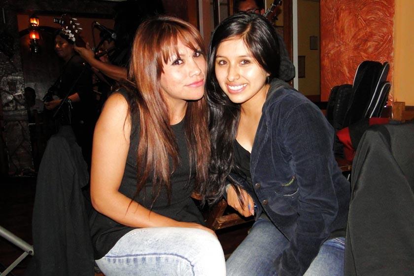 Olivia Meras y Allison Encalada