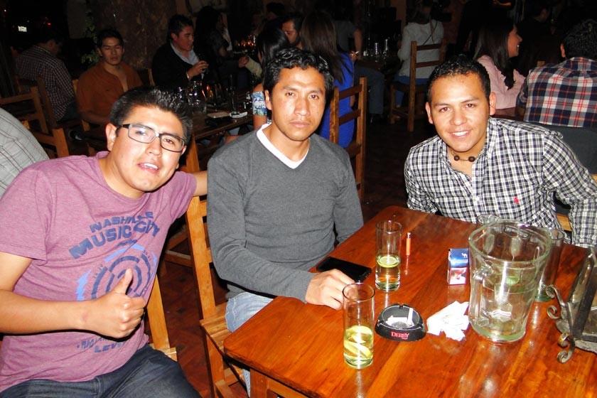 Alejandro Castro, Rolando Valda y Mauricio Miranda