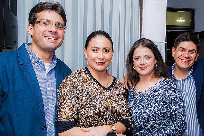 José Solares, Érika Hoffmann, Carla Antezana y Manuel Jiménez
