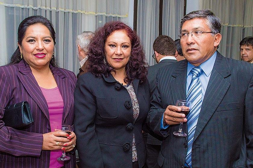 Norma Poveda, Susy Sandoval de Lagrava y Marco Díaz