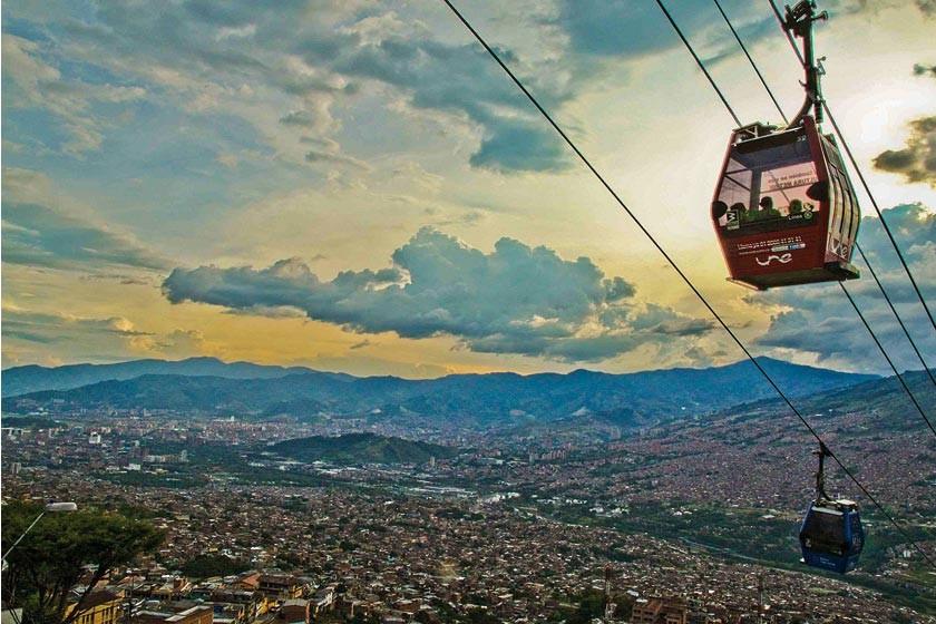 El espectacular teleférico de Medellín.