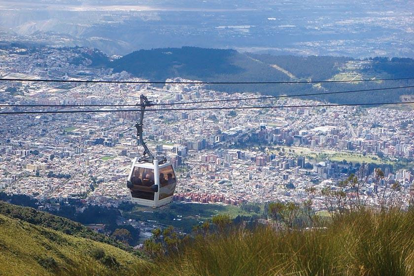 El teleférico de Quito.