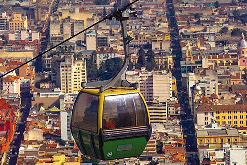 La vista de la ciudad de Salta desde su teleférico.