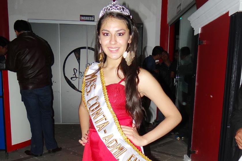 Miss Contaduria y Financiera: Carla Vargas.