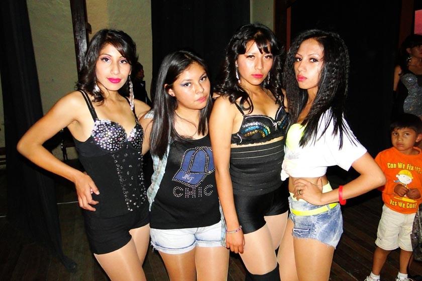 Jacqueline Caballero, Anahí Huarita, Fabiola Maturano, Roxana Guzmán.