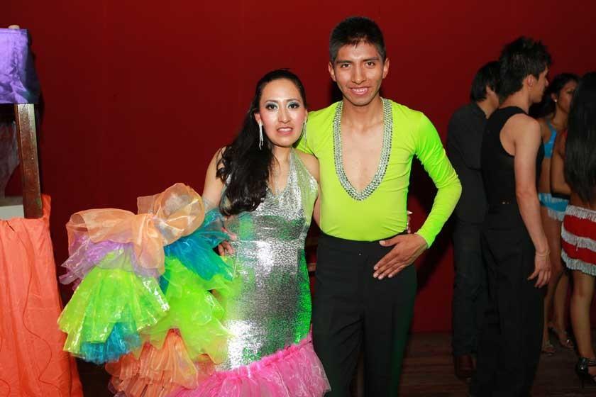 Escuela Salsa y Sabor Potosí: Jhaneth Flores y Jimmy Álvarez.
