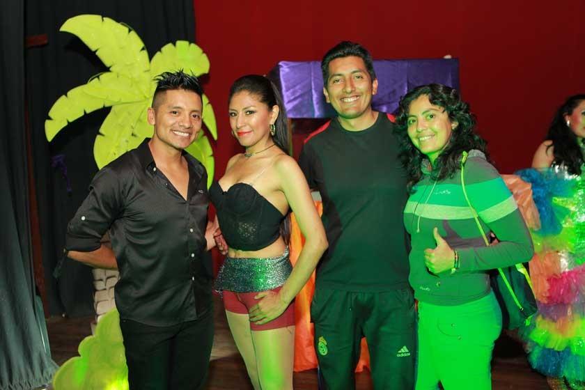 André David, Anahí Medinaceli, Miguel Peralta y Patricia Valda.