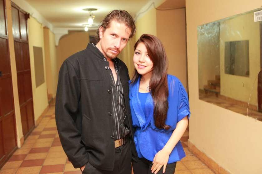 Erik Bracamonte y Vanessa Peñaranda.