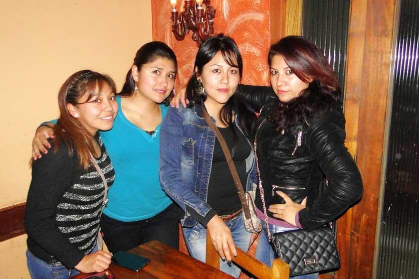 Mayra Ramírez, Ana Escalante, Evelin Alandia y Marisol Céspedes.