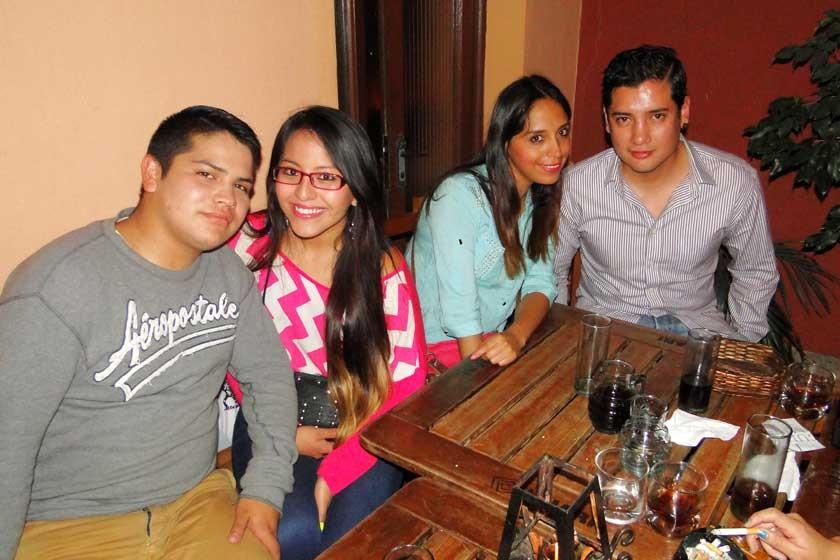 Fernando Montero, Adriana Cueto, Maribel Sandoval y Jonathan Arcienega.