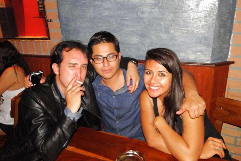 Eduardo Durán, Farid Aparicio y Gaby Sánchez.