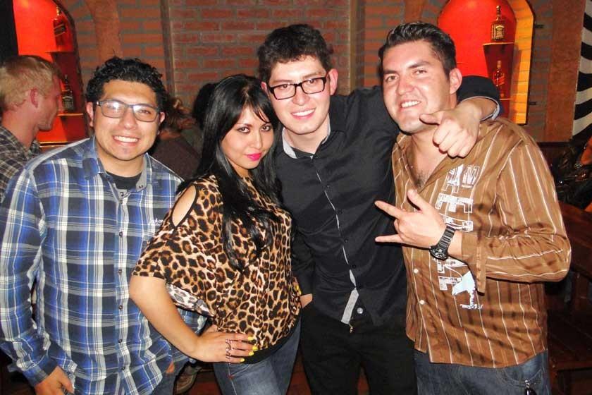 Fernando Michel, Andreina Pierolina, Andrés Clavijo y Marcelo Barrón.
