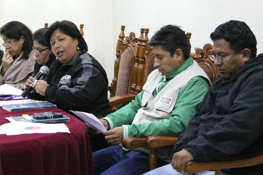 ELECCIONES. El Tribunal Electoral Departamental de Chuquisaca sesionó esta madrugada, tras la llegada de la última acta