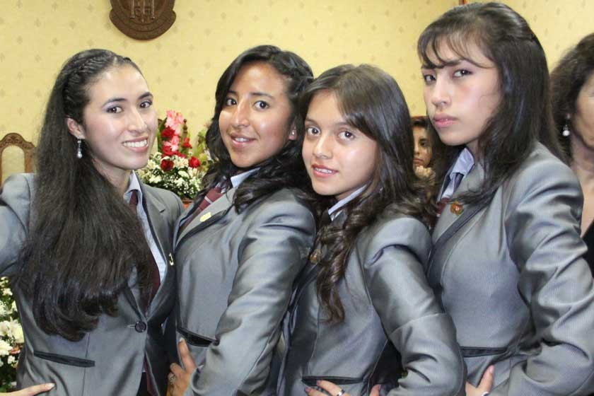 Katherine Gálvez, Nicole Matienzo, Rita Guzmán y Daniela Llanos.