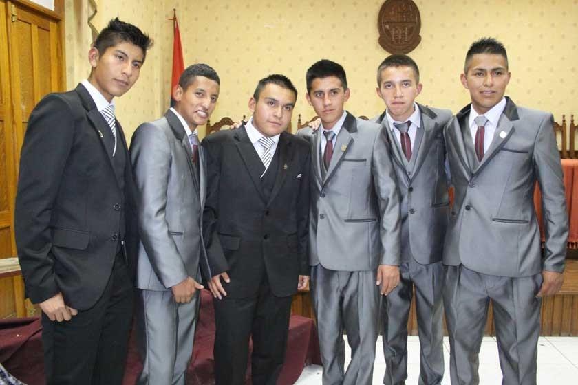 Bryan Cuba, Miguel Ángel Llanos, Marcelo Mendieta, José Antonio Zamudio, Joel Guzmán y David Grageda Zarate.