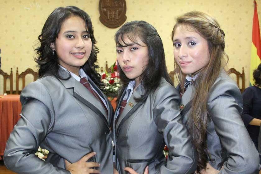 Lupe Flores, Daniela Llanos y Micaela Muriel