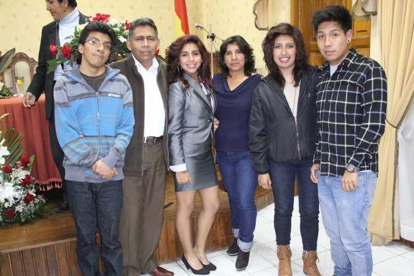 Jesús Pinaya, Humberto Pinaya, María de los Ángeles Pinaya, Narda Peñaylillo, María René Llanquipacha y Mauricio Pinaya