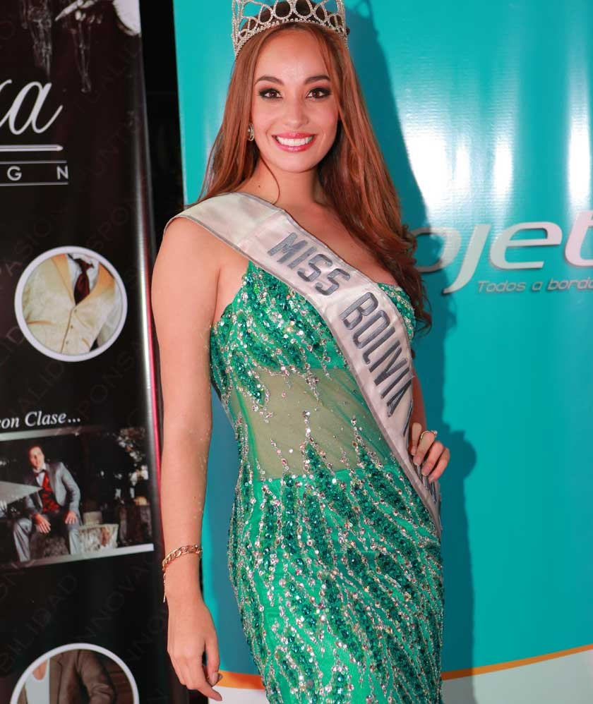 Eloisa Gutiérrez  Miss Chuquisaca y Miss Bolivia Tierra 2014.