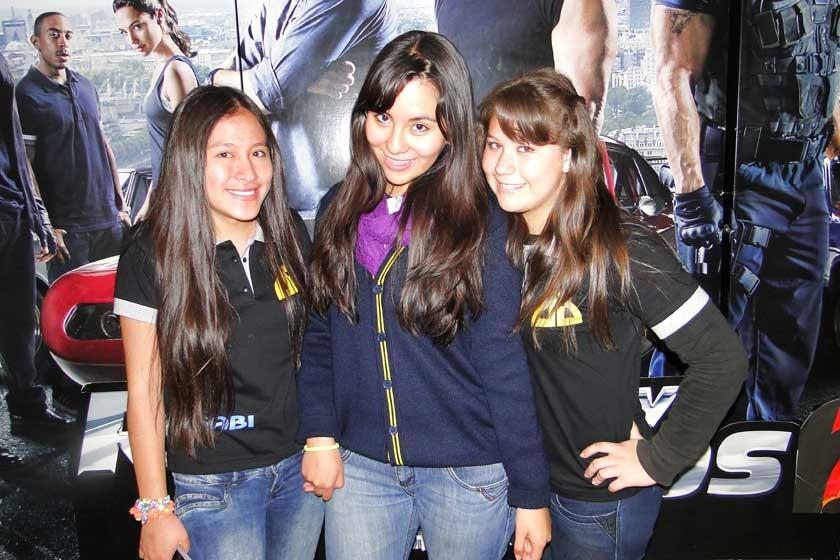 Gabriela Sánchez, Lilian Molina y María José Velasco.