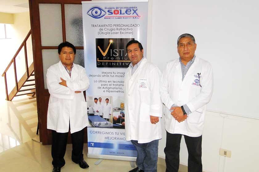 Fernando Arapa, Manuel Camargo y Freddy Guerra.