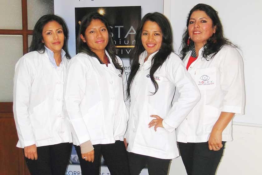 Heidy Lines, Ericka Arancibia, Karen Pérez y Lorena Zuñiga.