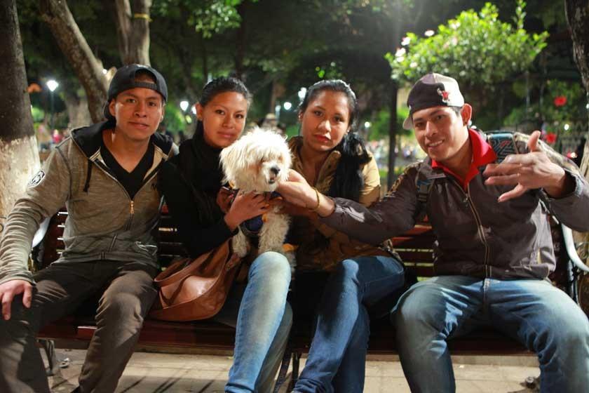 Arnold Molina, Mariana Arando, Náopoles, Joselyn Flores y José Muiva.