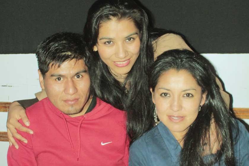 Armin Condo, Felipa Tejerina y Vivian Pereyra.