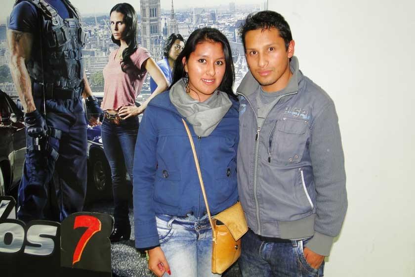 Lizeth Flores y José Luis Velasquez.