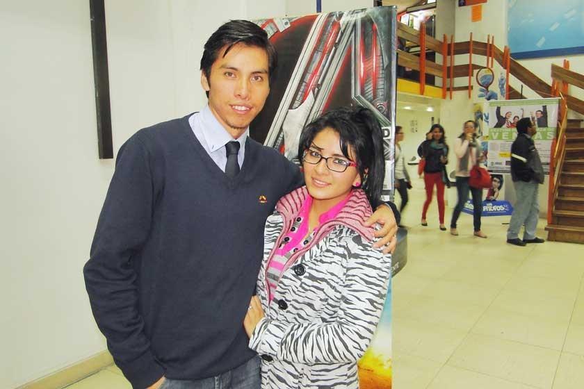 Sergio Grandón y Lucía Sánchez.