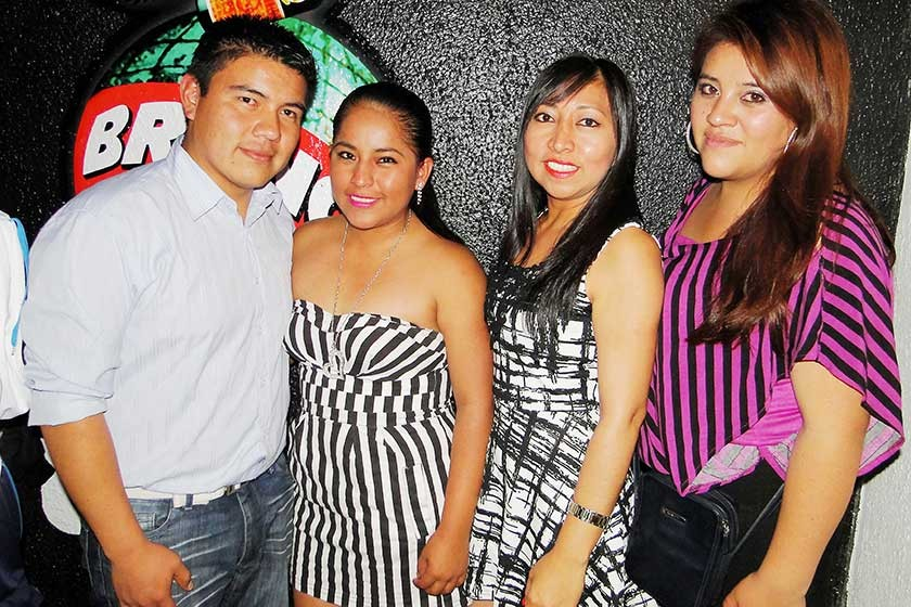 Carlos Pérez, Vivian Chungara, Danitza Clavijo y Gabriela Ramos.