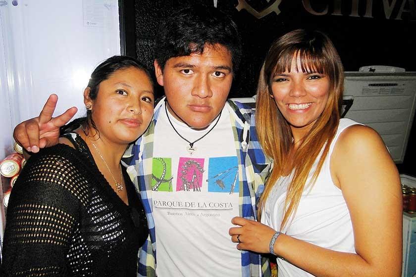 Danitza Mamani, Francisco Coro y Jessica Manjón.